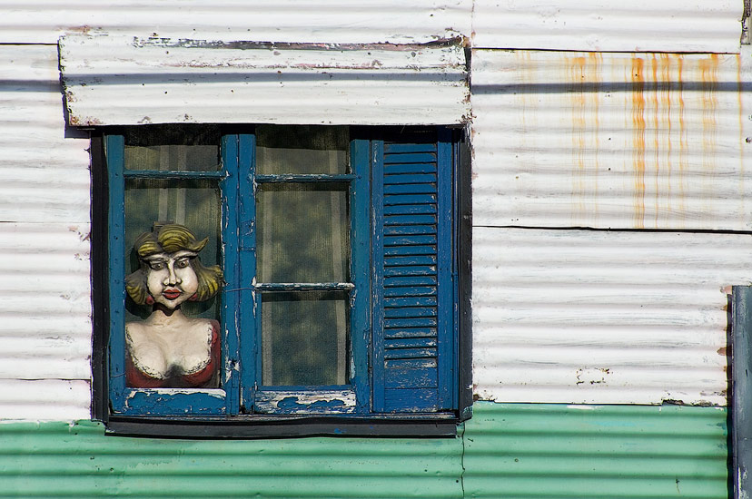 By the Window. Avenida Brasil, San-Telmo, Buenos Aires - Buenos-Aires-Murals-and-Walls-Argentina - Mike Reyfman Photography