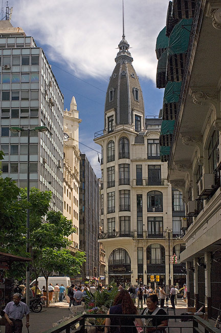 Downtown of Buenos Aires. Buenos Aires, Argentina. - Buenos-Aires-People-City-Places-Argentina - Mike Reyfman Photography