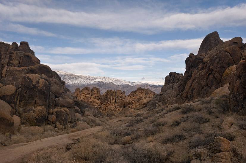This narrow valley in the Alabama Hills doubled as the Khyber Pass in Gunga Din movie. Alabama Hills, Lone Pine, California, USA. - Alabama-Hills-Eastern-Sierra - Mike Reyfman Photography