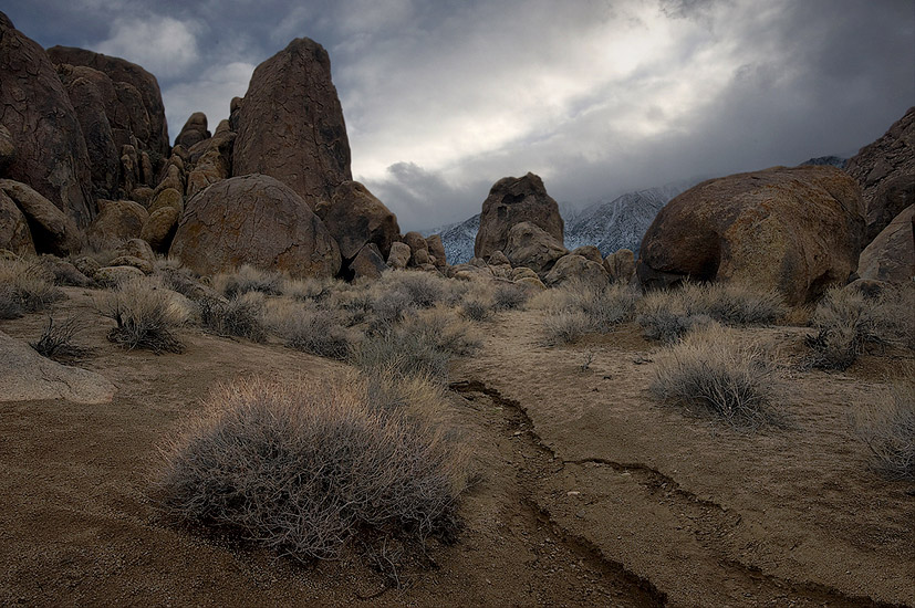 Between thunderstorms. Alabama Hills near Lone Pine, Eastern Sierra, California, USA.