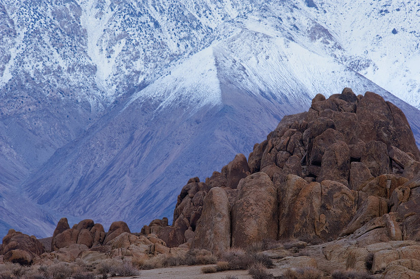 Boulder pile and Inyo Mountains. Alabama Hills near Lone Pine, Eastern Sierra, California, USA. - Alabama-Hills-Eastern-Sierra - Mike Reyfman Photography