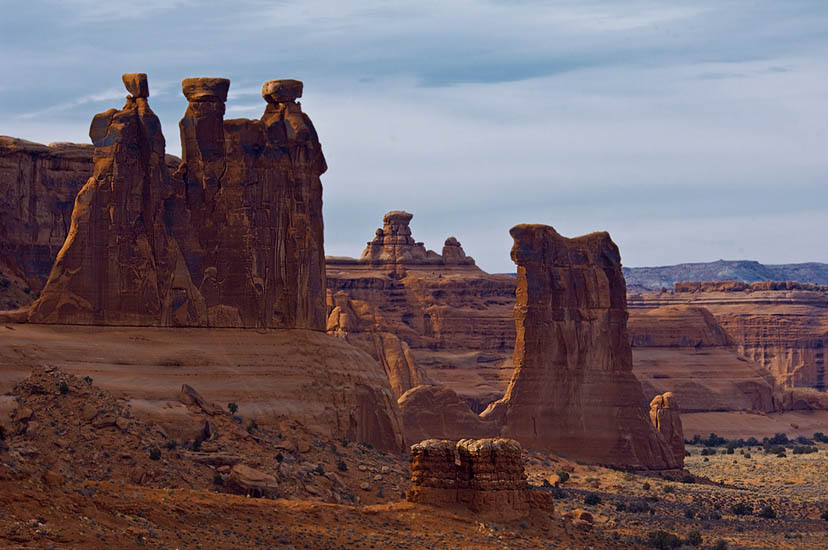 Three Gossips. Arches National Park, Utah, USA