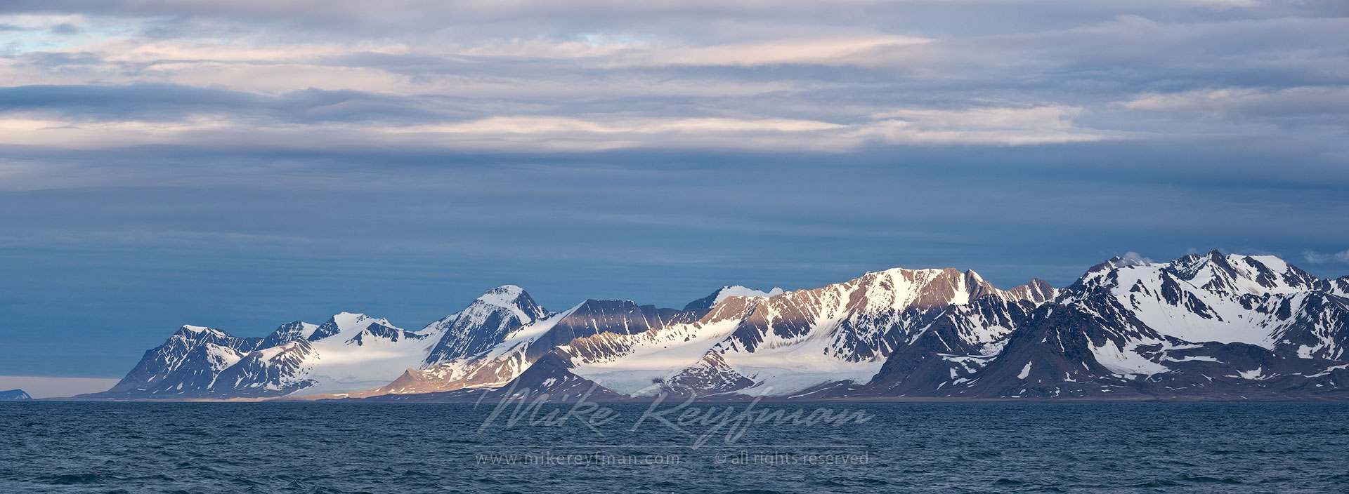 Svalbard Mountains at Forlandsundet, Spitsbergen, Svalbard, Norway. - Arctic-Landscape-Svalbard-Spitsbergen-Norway - Mike Reyfman Photography