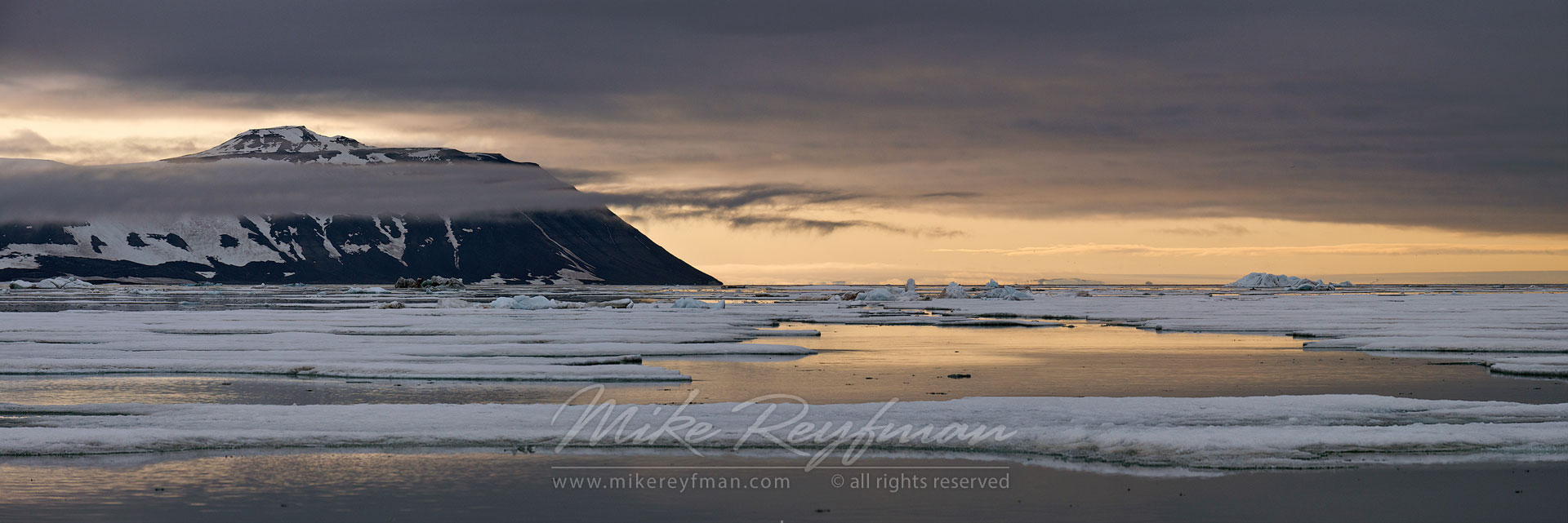 Evening in Hinlopenstretet, Svalbard (Spitsbergen) Archipelago, Norway. - Arctic-Landscape-Svalbard-Spitsbergen-Norway - Mike Reyfman Photography