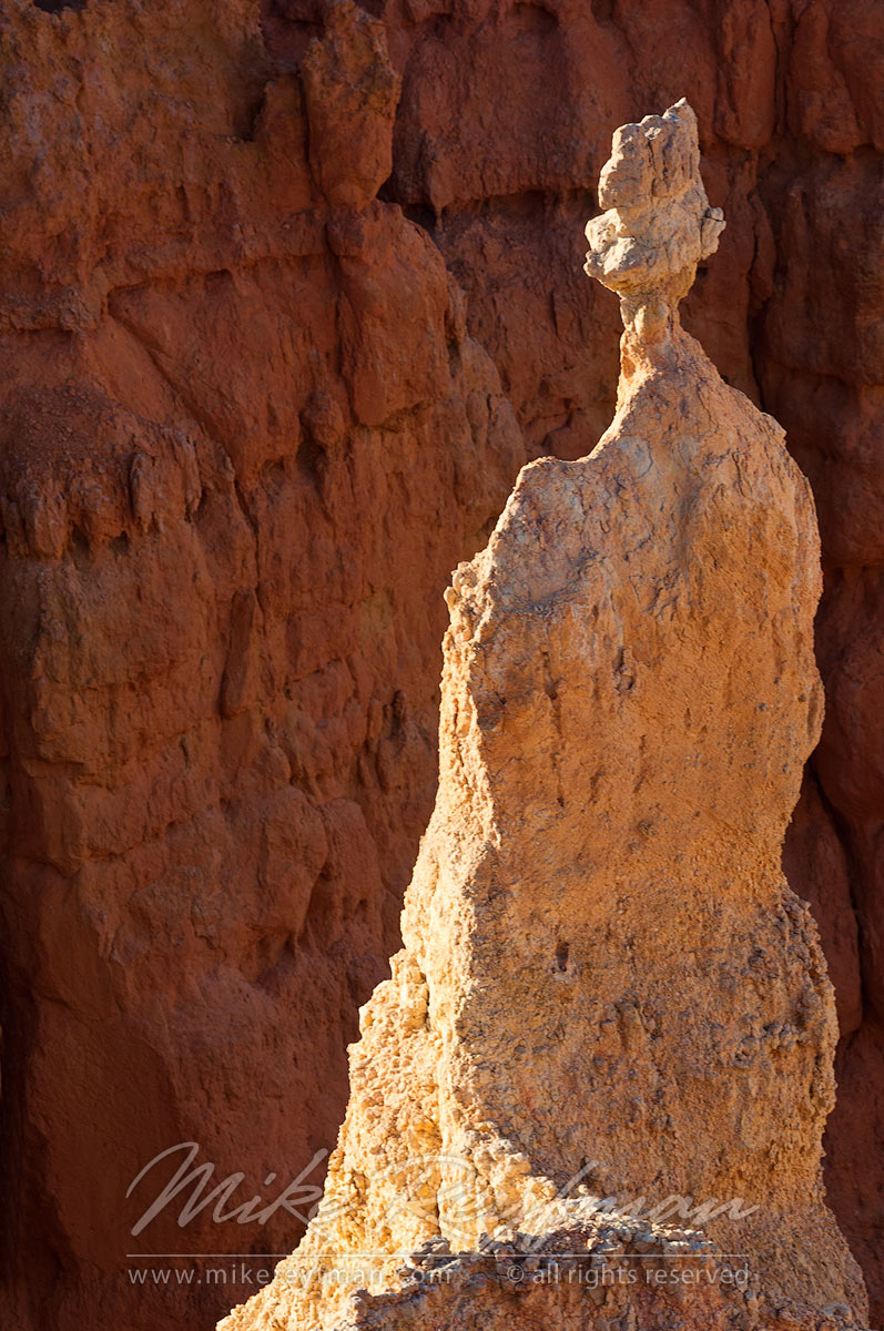 Figure in White. Bryce Canyon National Park, Utah, USA. - Bryce-Canyon-National-Park-Utah-USA - Mike Reyfman Photography