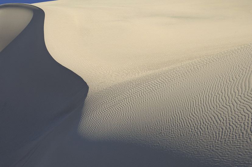 Lines and ripples. Mesquite Flats Sand Dunes, Stovepipe Wells, Death Valley National Park, California, USA.