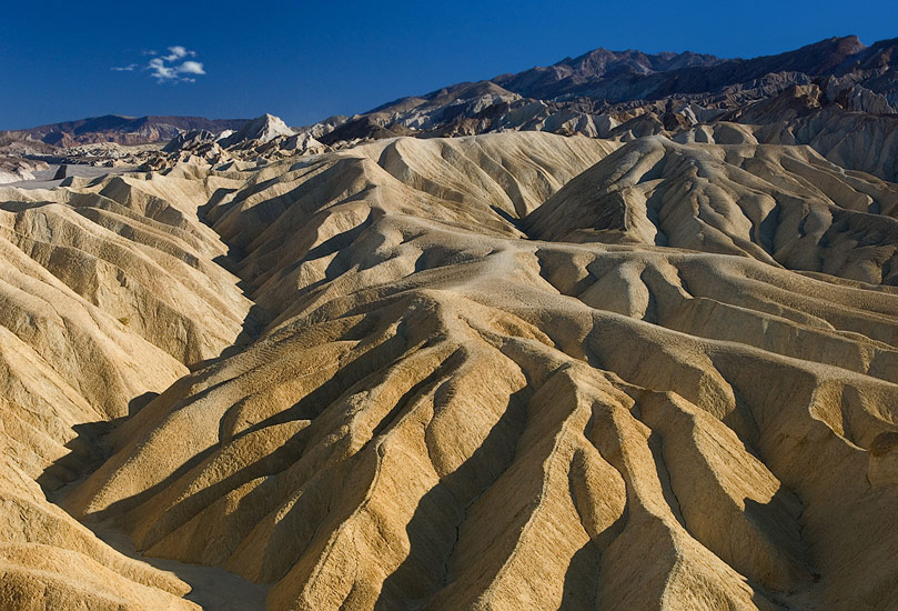 Eroded badlands. Zabriskie Point, Death Valley National Park, California, USA. - Death-Valley-National-Park-California-USA - Mike Reyfman Photography