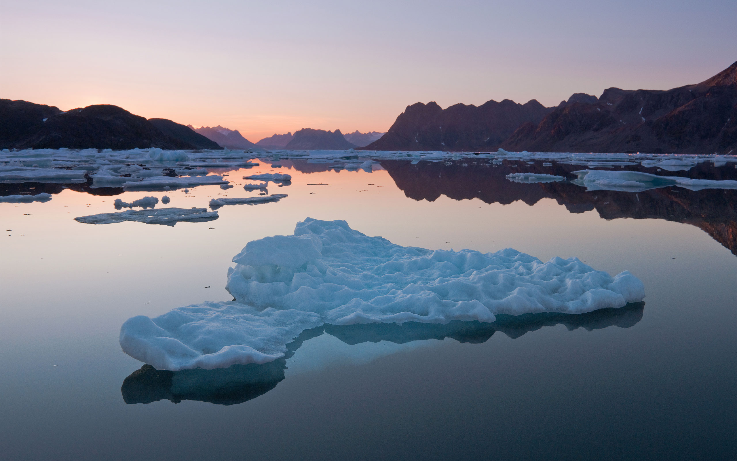 View from Kulusuk Island over Torsuut Tunoq sound toward stunning Angmagssalik fjord at dusk. Southeastern Greenland. - Greenland-Iceberg-Factory-1 - Mike Reyfman Photography