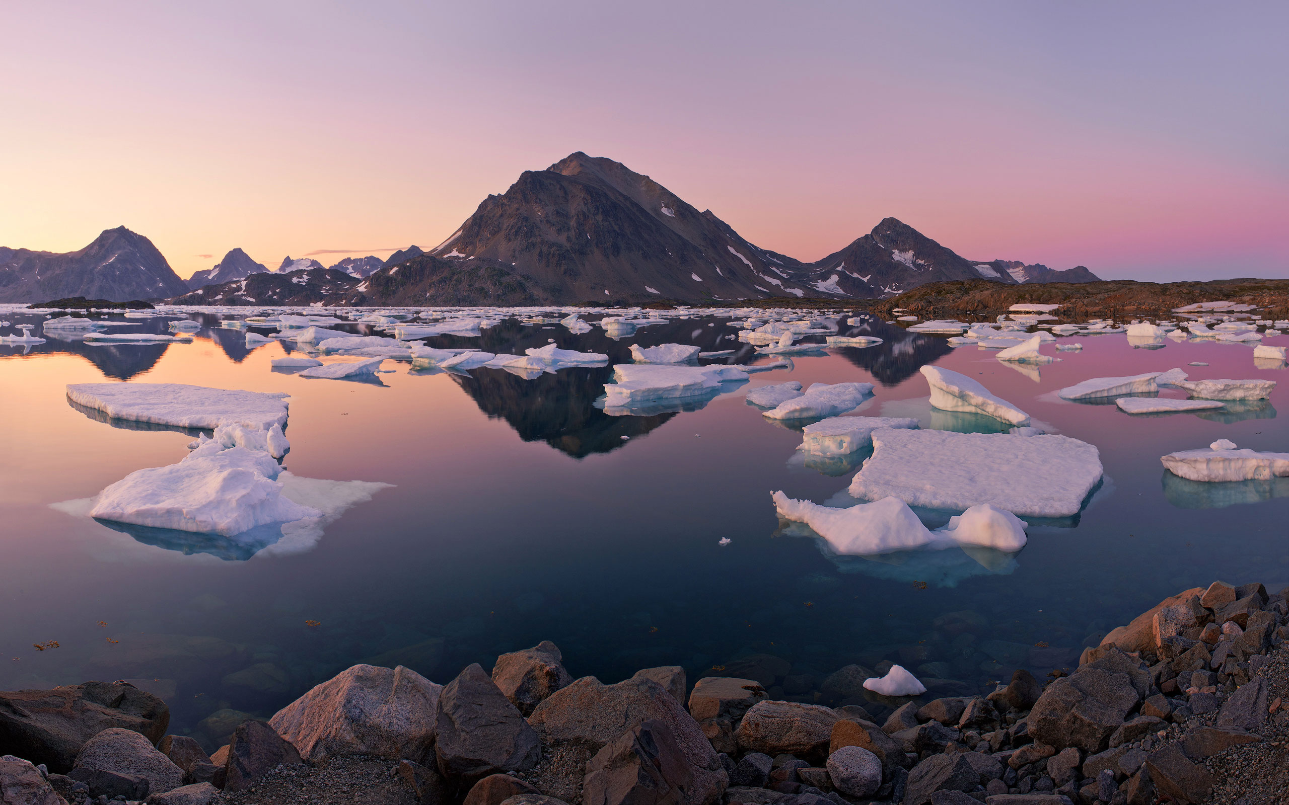 Calm. Dusk at Torsuut Tunoq sound. Southeastern Greenland. - Greenland-Iceberg-Factory-1 - Mike Reyfman Photography