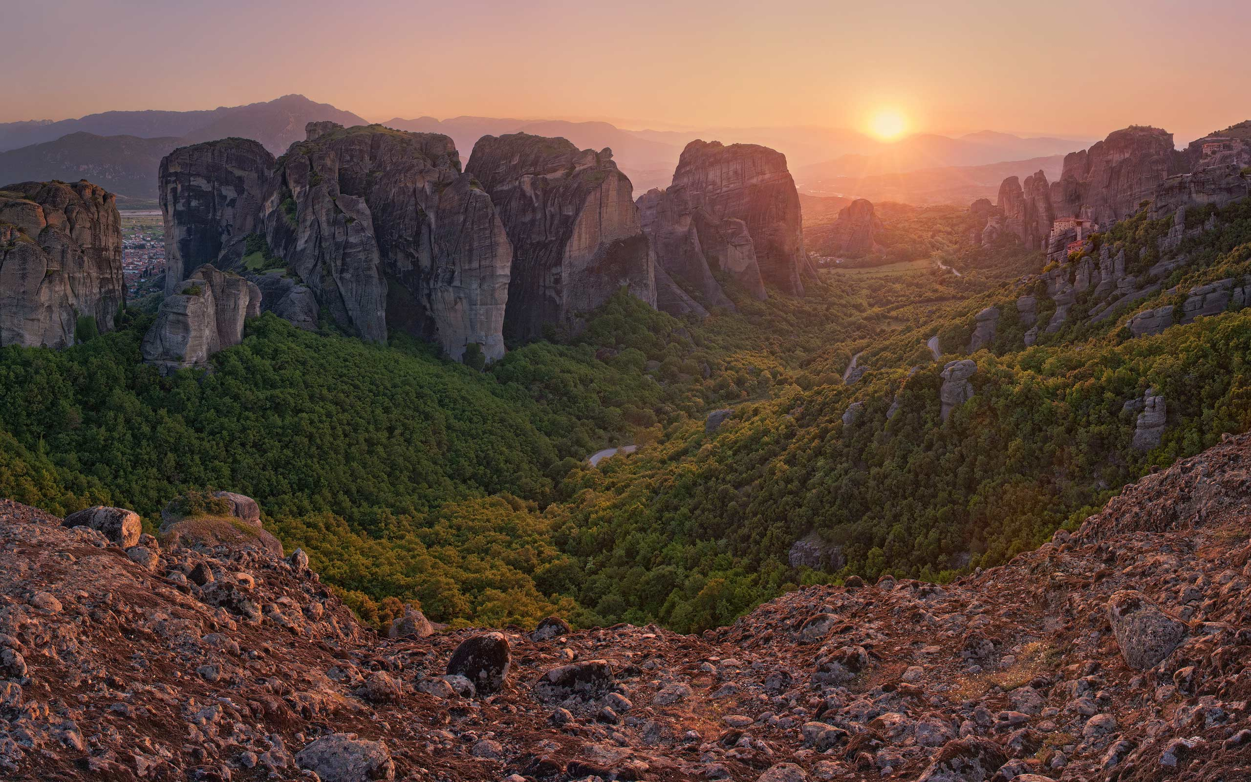 Sunset at Meteora, Thessaly, Greece - Meteora-Monasteries-Greece - Mike Reyfman Photography