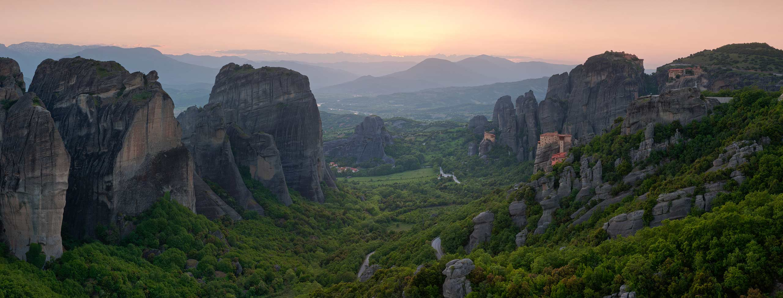 Monasteries of Meteora at sunset, Thessaly Greece - Meteora-Monasteries-Greece - Mike Reyfman Photography