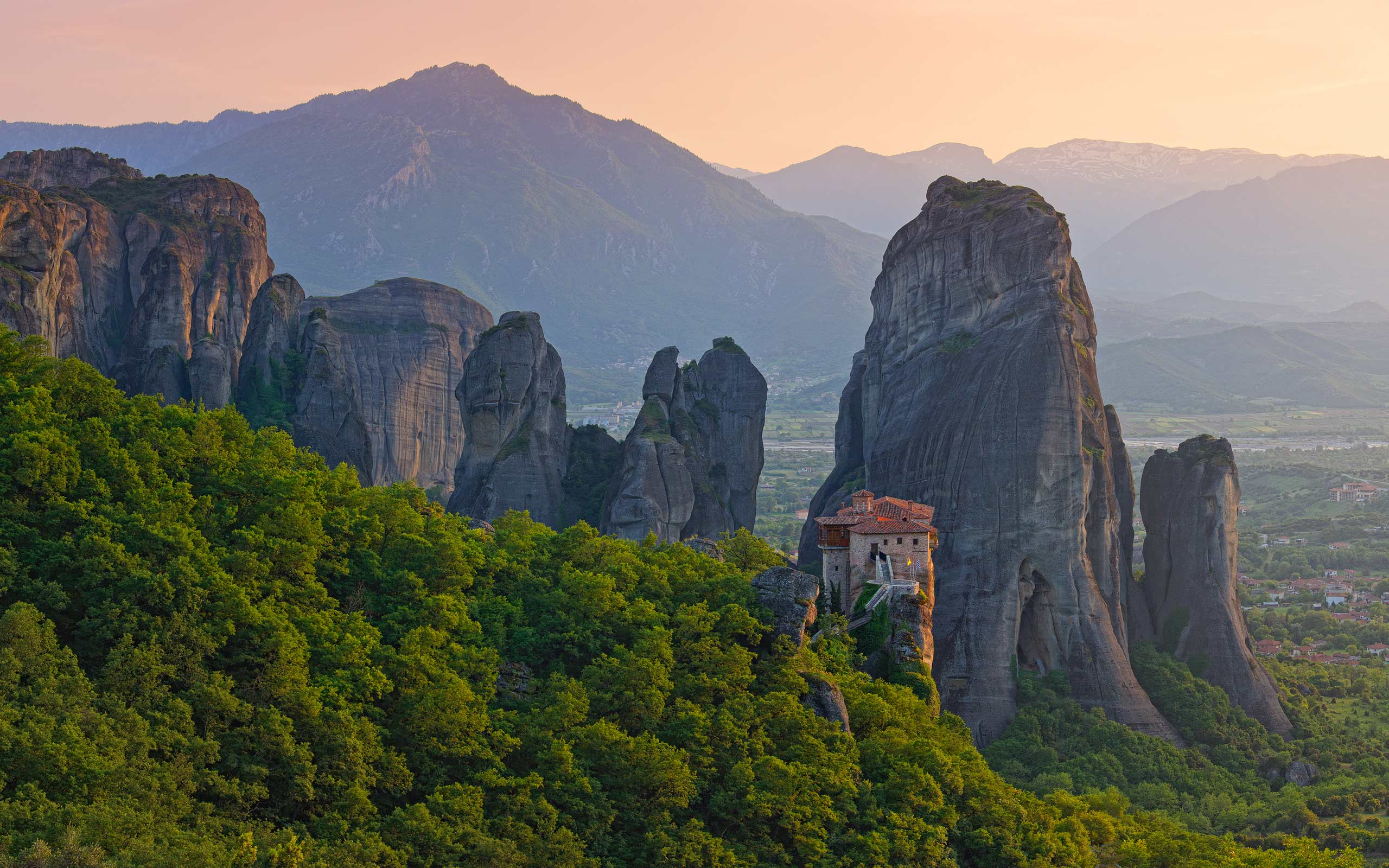 Roussanou Monastery at sunset, Meteora, Thessaly, Greece - Meteora-Monasteries-Greece - Mike Reyfman Photography