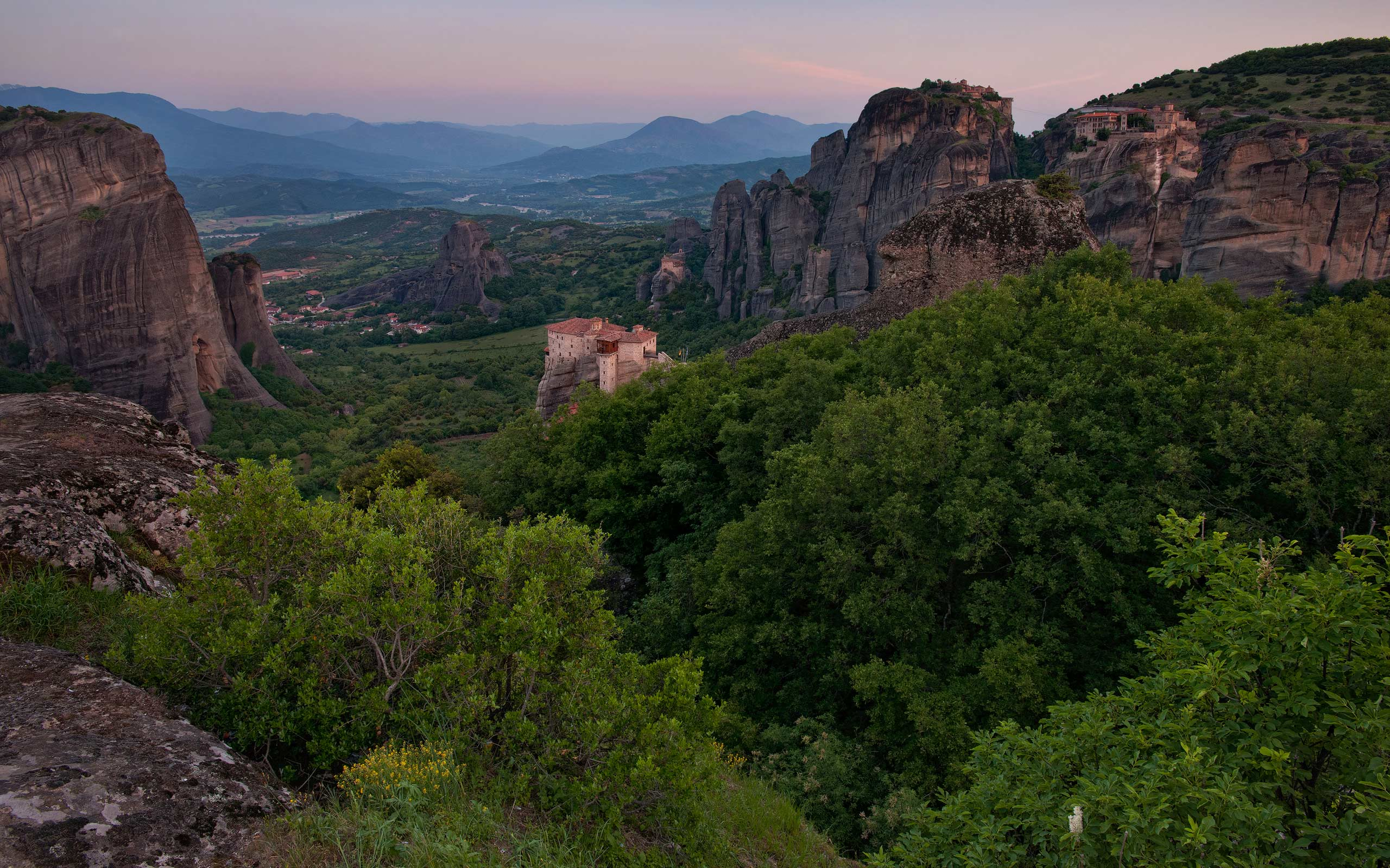 Monasteries of Meteora  at dawn. Thessaly, Greece - Meteora-Monasteries-Greece - Mike Reyfman Photography