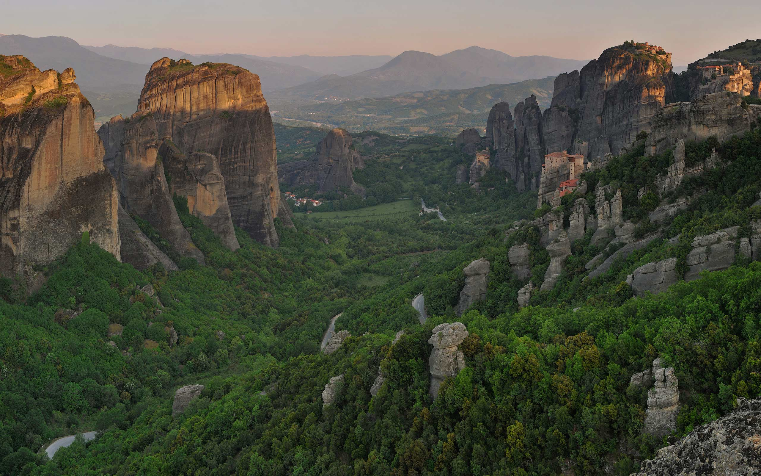 Sunrise at Meteora, Thessaly, Greece - Meteora-Monasteries-Greece - Mike Reyfman Photography
