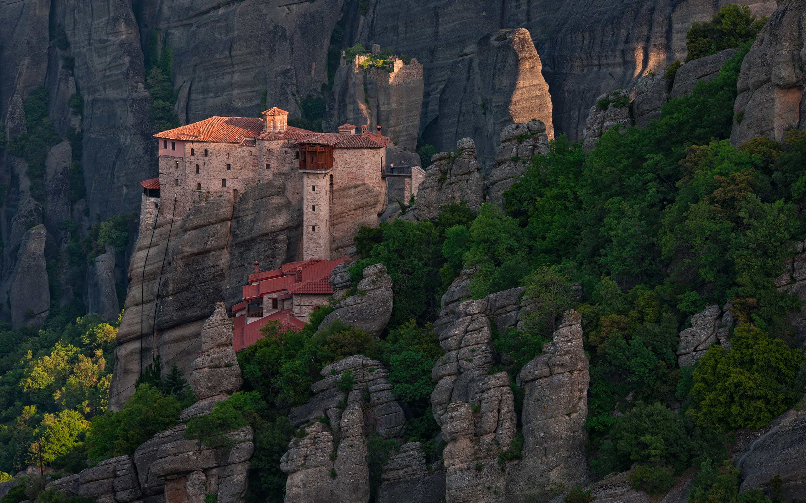 Roussanou Nunnery at sunrise, Meteora, Thessaly, Greece - Meteora-Monasteries-Greece - Mike Reyfman Photography
