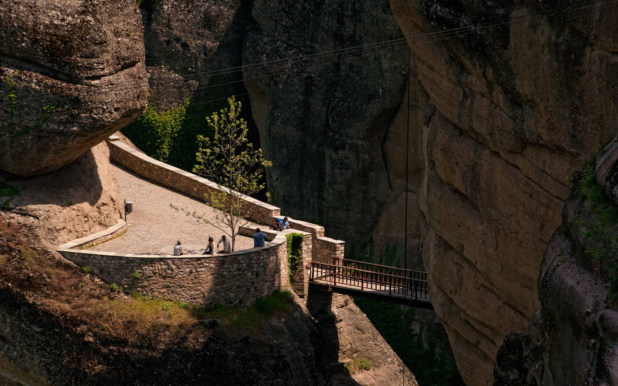 Entrance bridge to Varlaam Monastery. Meteora, Thessaly, Greece - Meteora-Monasteries-Greece - Mike Reyfman Photography