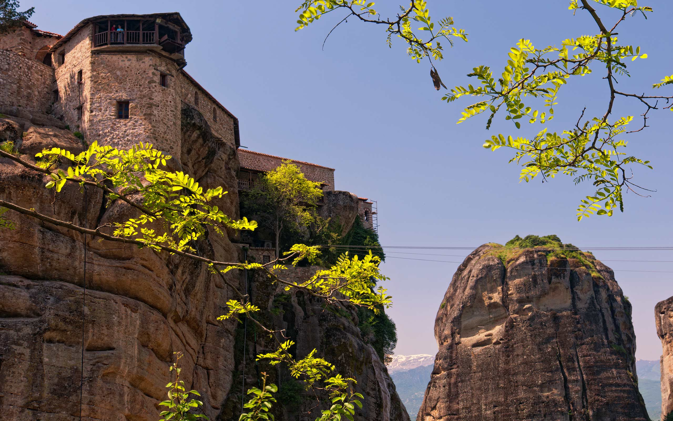 Varlaam Monastery from the entrance bridge. Meteora, Thessaly, Greece - Meteora-Monasteries-Greece - Mike Reyfman Photography