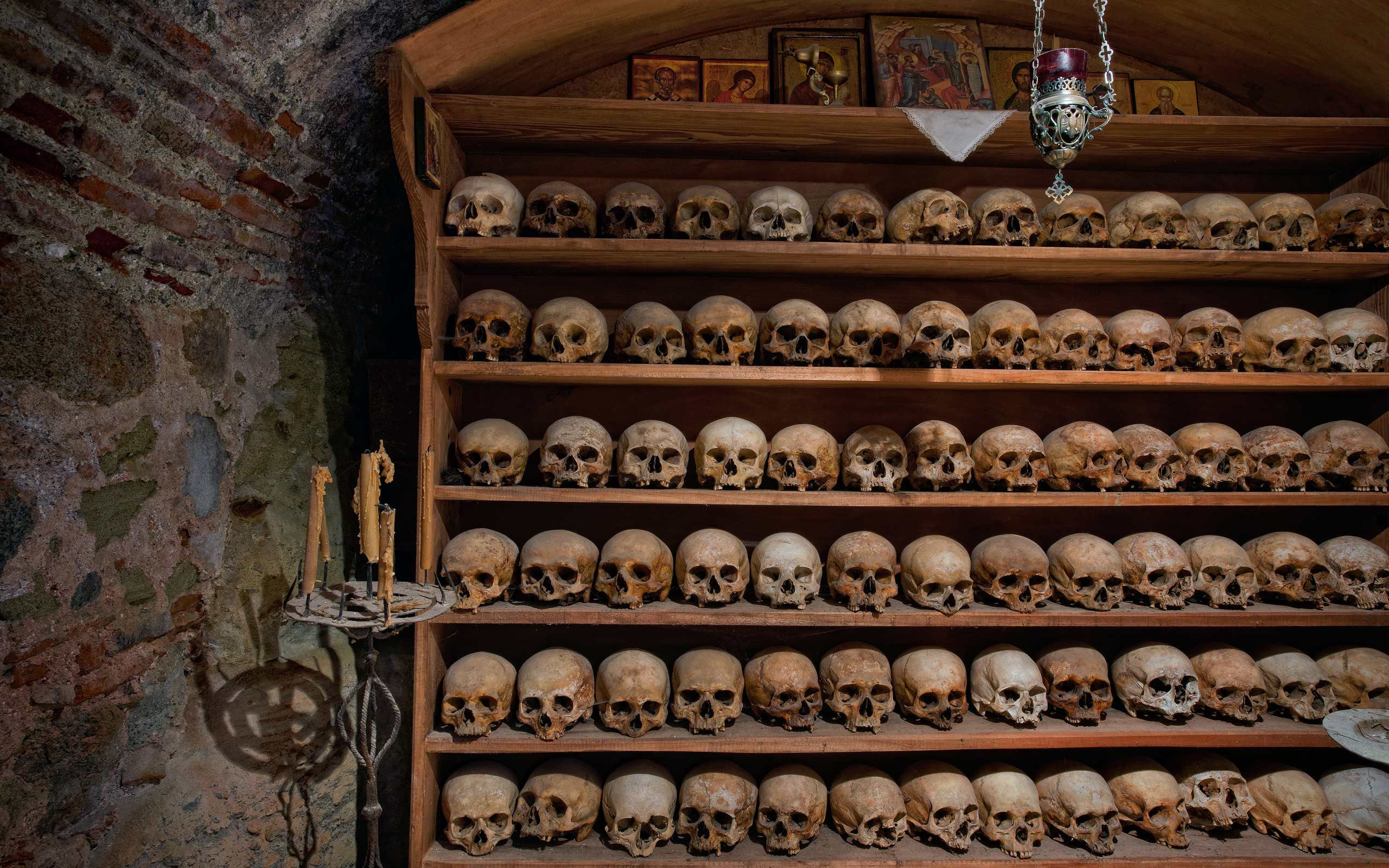 The Ossuary at Great Meteoron Monastery. Meteora, Thessaly, Greece - Meteora-Monasteries-Greece - Mike Reyfman Photography