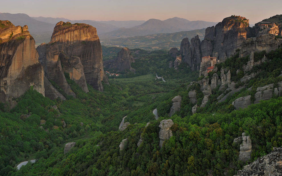 Sunrise at Meteora, Thessaly, Greece