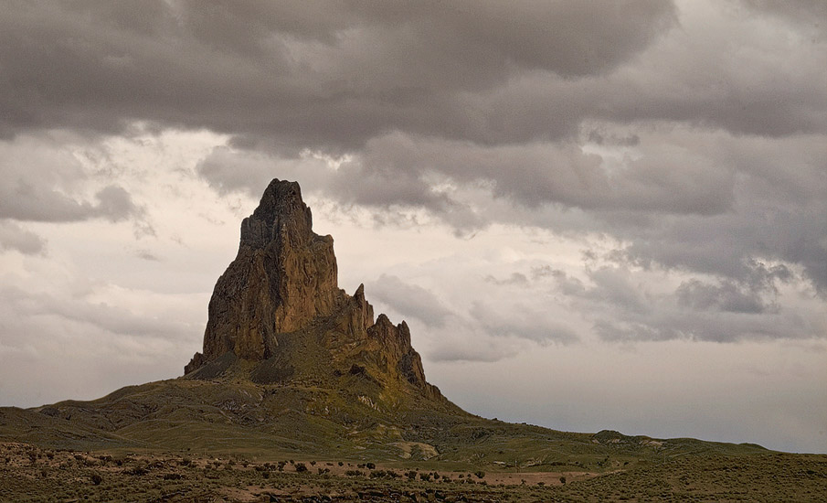 Agathla Peak from US 163 south of Monument Valley, Arizona, USA. - Monument-Valley-Agathla-Peak-El-Capitan-Owl-Church-Rock - Mike Reyfman Photography
