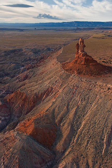 Aerial view of Owl Rock. Arizona, USA. - Monument-Valley-Agathla-Peak-El-Capitan-Owl-Church-Rock - Mike Reyfman Photography