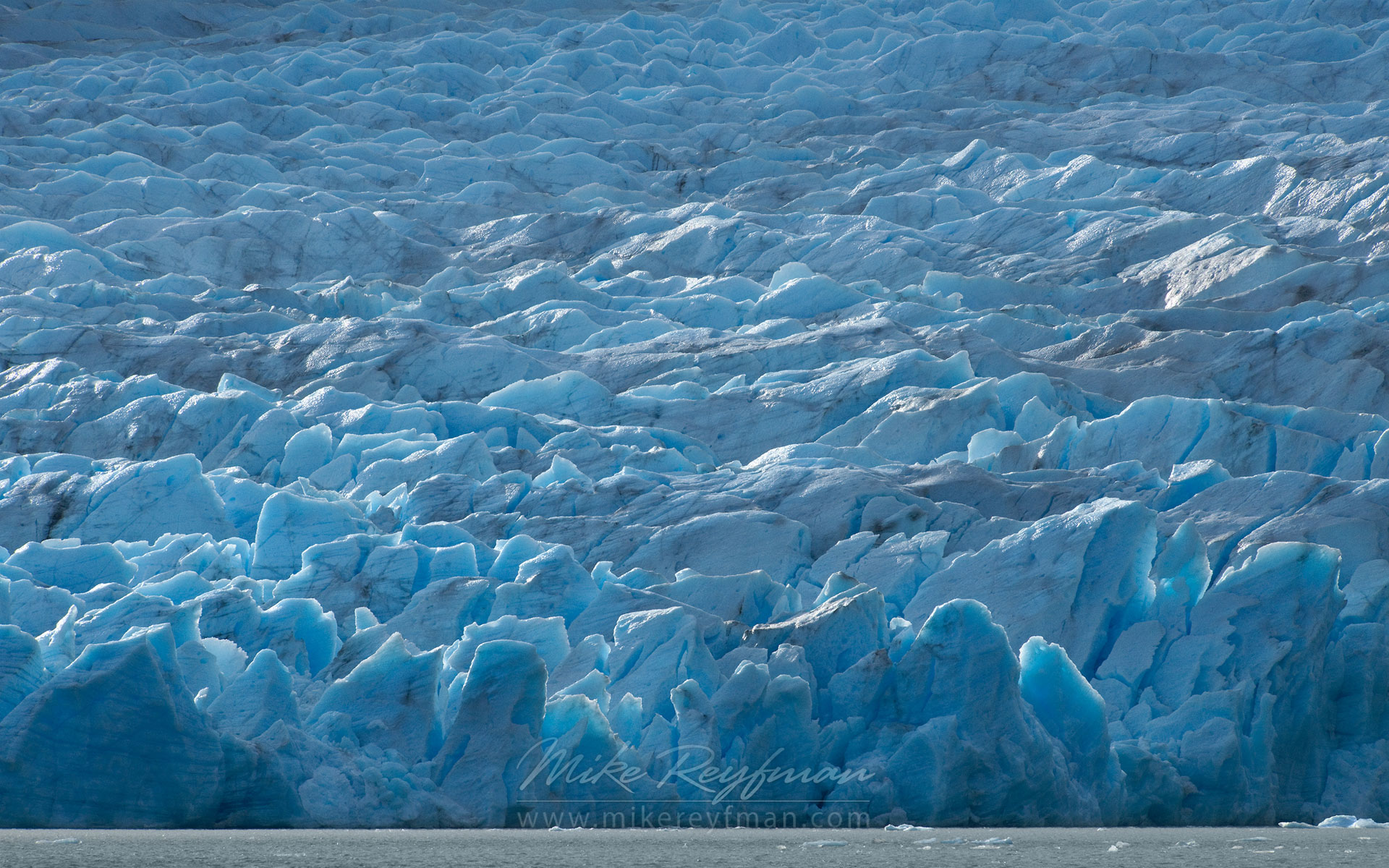 Feeling Blue. Grey Glacier. Southern Patagonia Ice Field, Torres del Paine National Park, Ultima Esperanza Province, Magallanes and Antartica Chilena Region XII, Patagonia, Chile.  - Torres-Del-Paine-National-Park-Patagonia-Chile - Mike Reyfman Photography