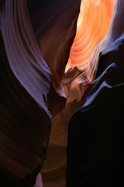 Color Crevasse. Upper Antelope Canyon, Arizona, USA. - Upper-Antelope-Canyon-Arizona-USA - Mike Reyfman Photography