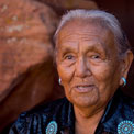 Portrait of Sue Tsosie, Discoverer and Owner of Upper Antelope Canyon, Arizona, USA. - Upper-Antelope-Canyon-Arizona-USA - Mike Reyfman Photography