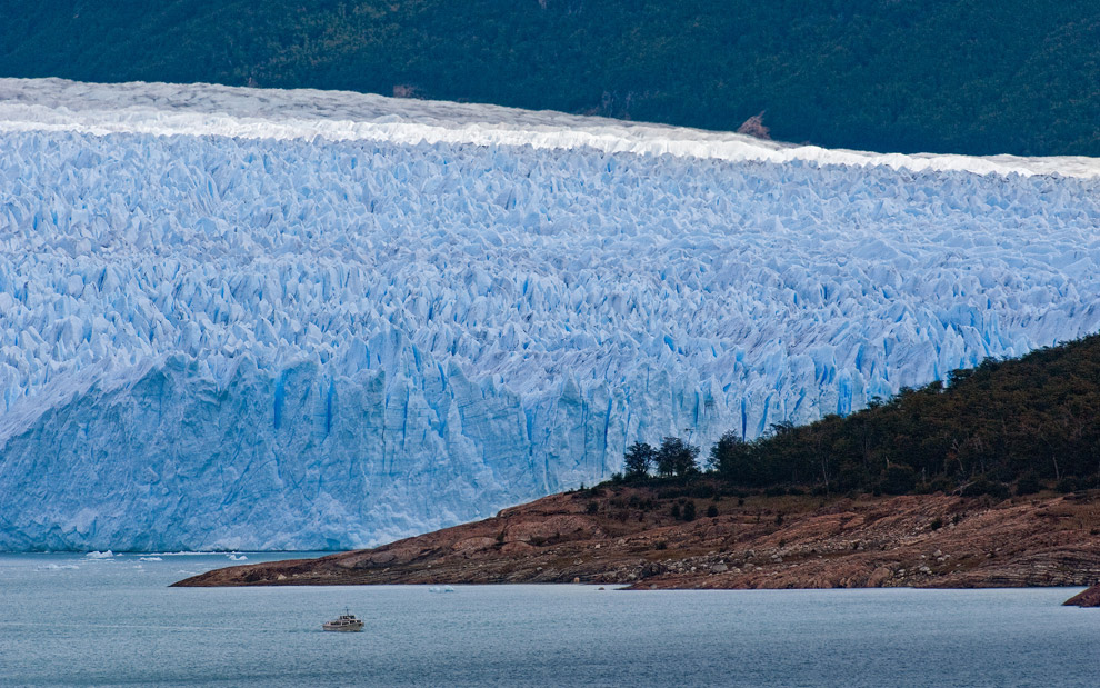 About scale. Tourist ship in front of Perito Moreno Glacier, Patagonia, Argentina. - Gallery-1 - Mike Reyfman Photography