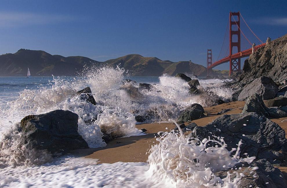 Postcard From San Francisco Golden Gate Bridge And Baker Beach