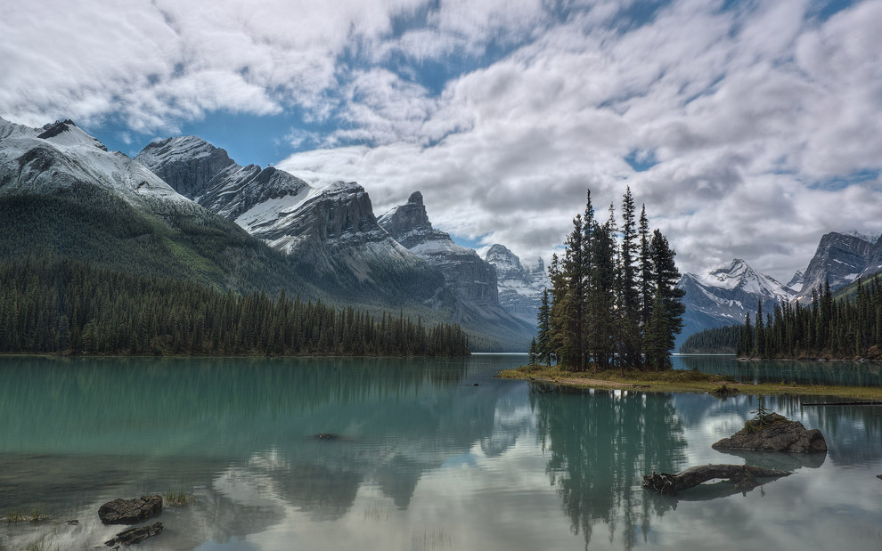 The Spirit Island, Maligne Lake, Jasper National Park, Alberta, Canada
