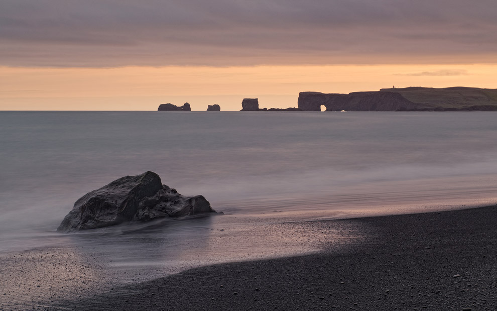 Homage to Daniel Bergmann. Dyrholaey view from Reynisfjara Beach, Iceland.  - Gallery-2 - Mike Reyfman Photography
