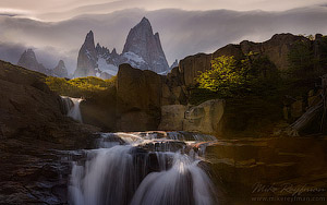 Fitzroy Massif, Cerro Torre Massif and Perito Moreno Glacier.  Los Glaciares National Park, Patagonia, Argentina - Landscape, Nature and Cityscape Photography - Mike Reyfman Photography - Fine Art Prints, Stock Images, Nature Abstracts
