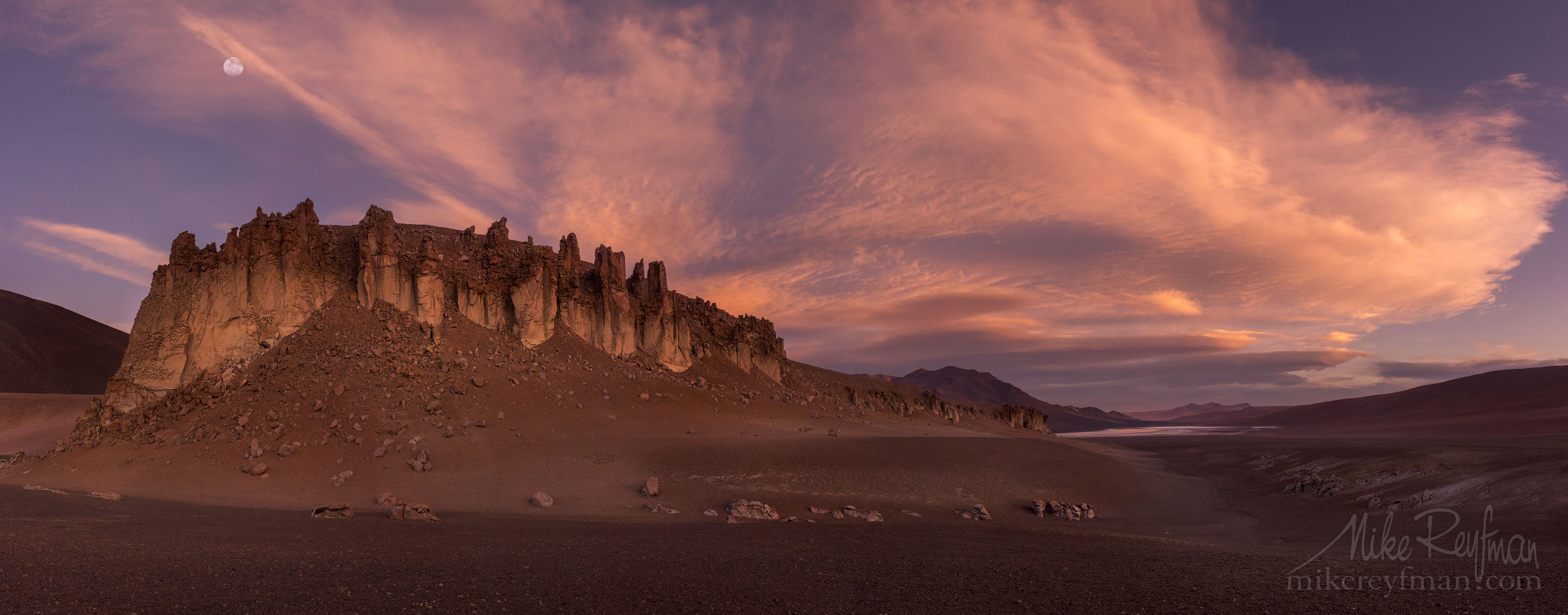 AA1-D1D8286_Pano_1x2.55 - Atacama and Altiplano. The Driest Desert and The High Plain - Mike Reyfman Photography