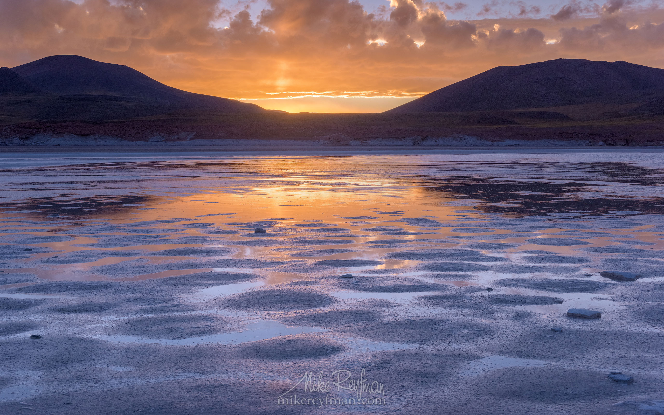 Salar de Aguas Calientes at sunset. San Pedro de Atacama, Atacama Desert, Antofagasta Region, Chile AA1-D1D9739 - Atacama and Altiplano. The Driest Desert and The High Plain - Mike Reyfman Photography