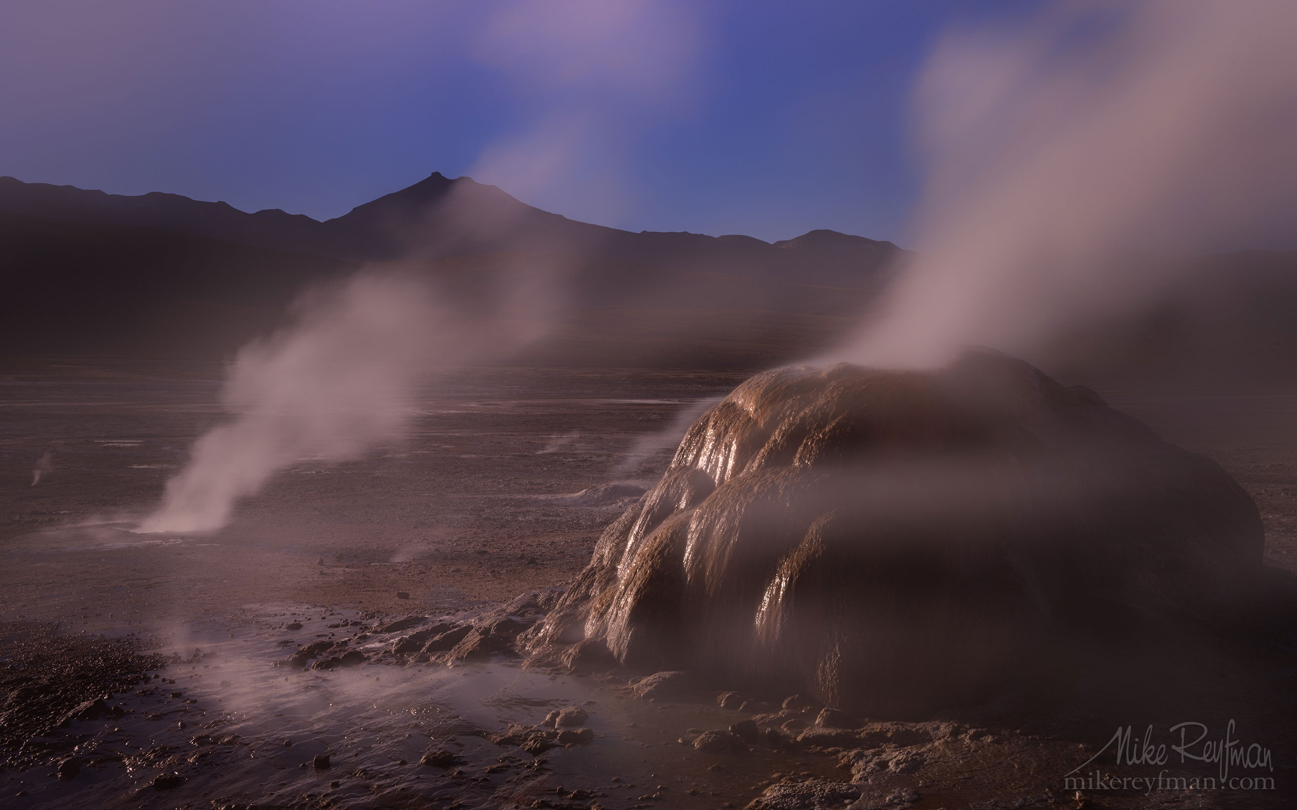 Geyser del Tatio. Atacama's Geothermal Field, Antofagasta Region, Chile AA1-Q3X0535 - Atacama and Altiplano. The Driest Desert and The High Plain - Mike Reyfman Photography