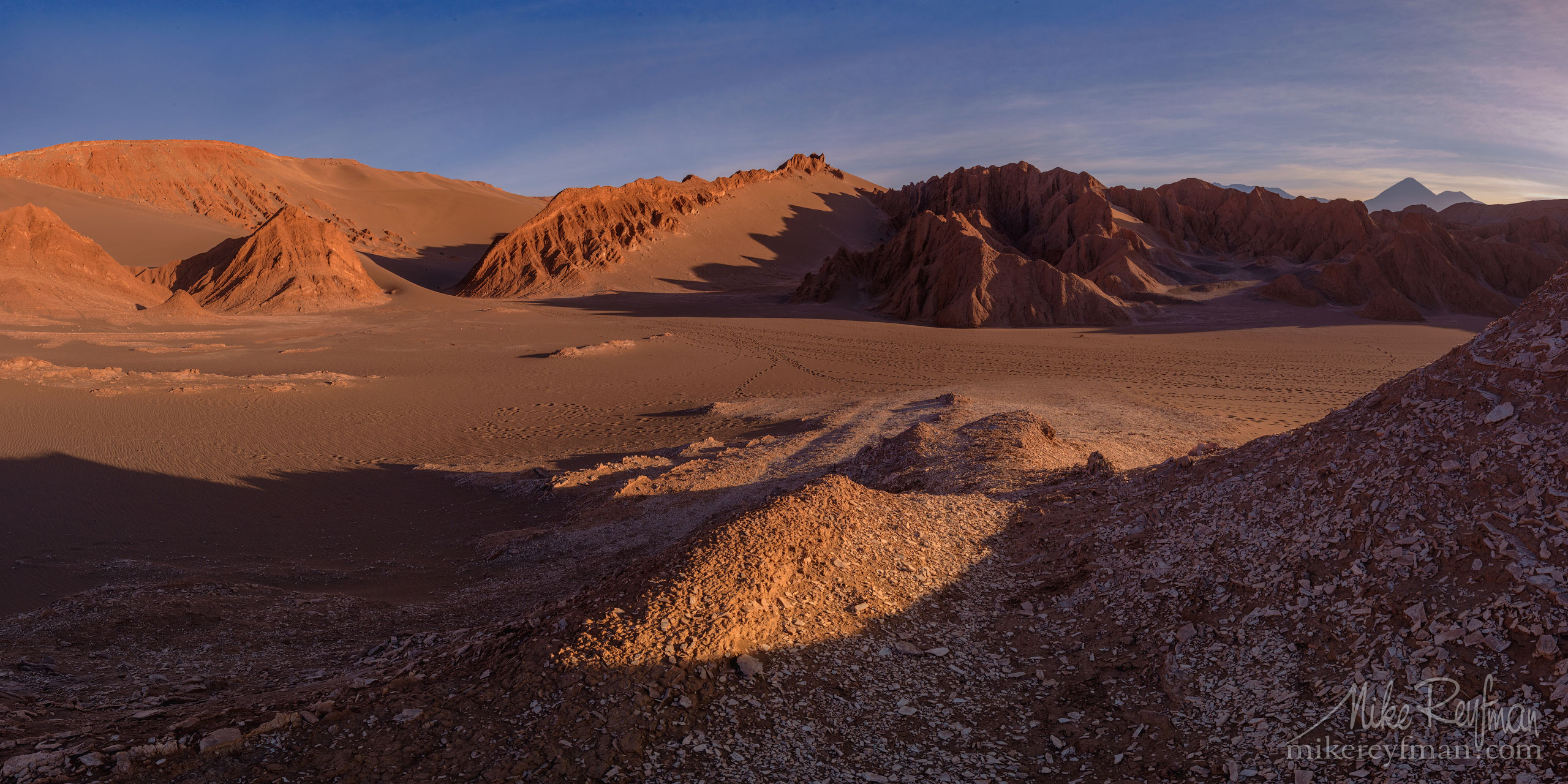 La Cordillera de la sal. Parque nacional del Valle de la Muerte, San Pedro de Atacama, Atacama Desert, Antofagasta Region, Chile AA1-D1D8237_Pano_1X2 - Atacama and Altiplano. The Driest Desert and The High Plain - Mike Reyfman Photography