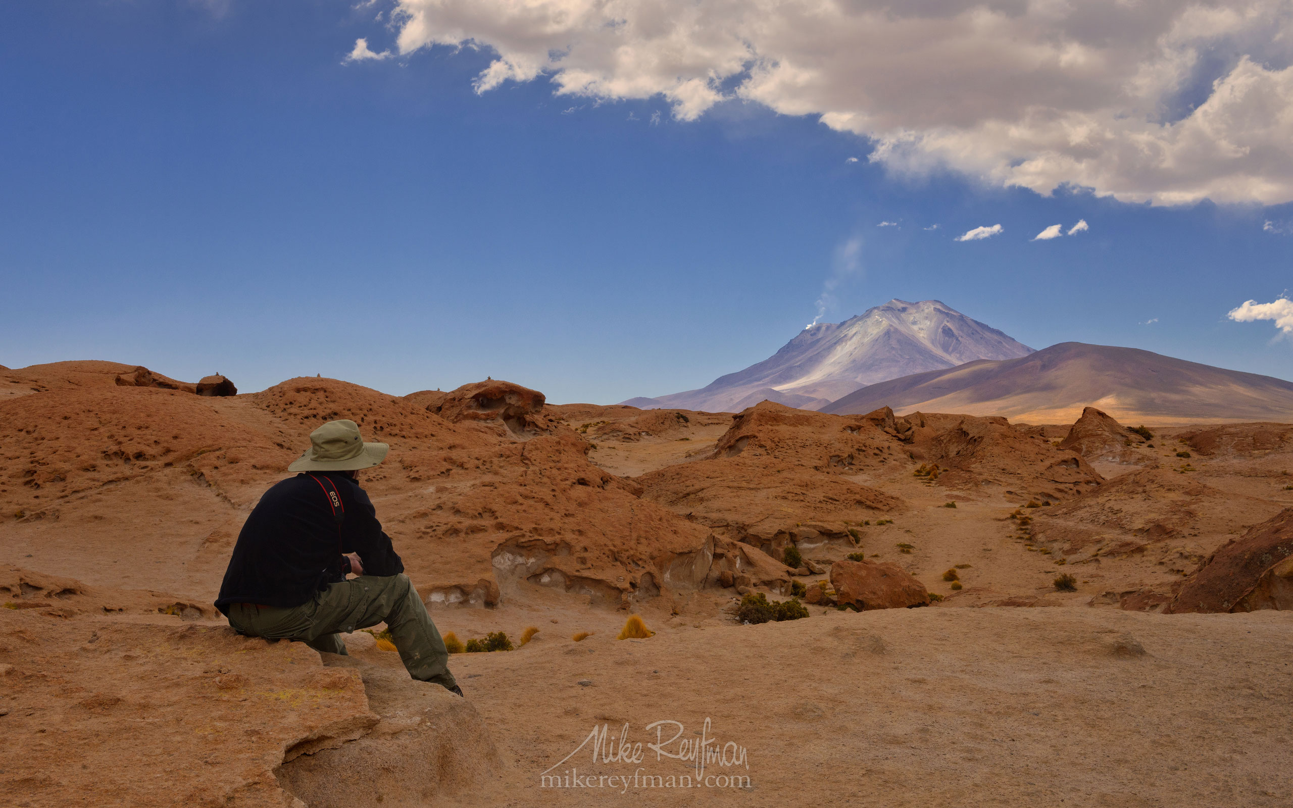 View of the active Ollague Volcano, Los Lipez, Southwestern Bolivia AA1-Q3X1156 - Atacama and Altiplano. The Driest Desert and The High Plain - Mike Reyfman Photography