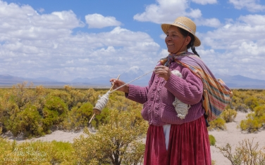 Portrait-of-smiling-Bolivian-woman.-Altiplano,-Bolivia