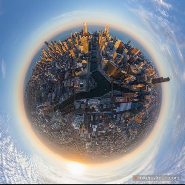 Planet-Chicago.-Aerial-circular-panorama.-Chicago,-Illinois,-USA