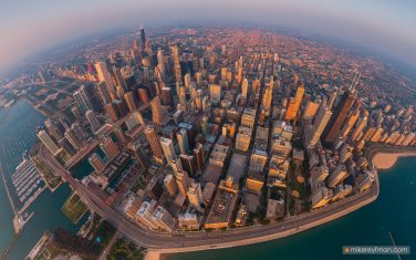 Chicago-from-Above.-Chicago,-Illinois,-USA.-Aerial-capture.