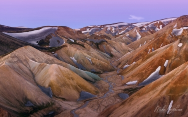 Rhyolite Mountains, Crater Lakes, Geothermal Areas, Lava Fields and Glacial Rivers. Iceland.  - Landscape, Nature and Cityscape Photography - Mike Reyfman Photography - Fine Art Prints, Stock Images, Nature Abstracts