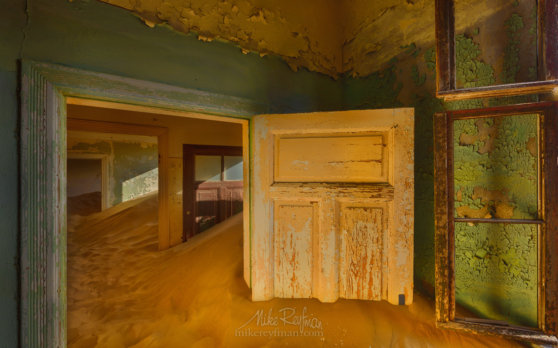 Patterns of Time. Kolmanskop Ghost town, Namib Desert, Southern Namibia. KN1-MR10N1228 - Kolmanskop Ghost Town, Namib Desert, Southern Namibia - Mike Reyfman Photography