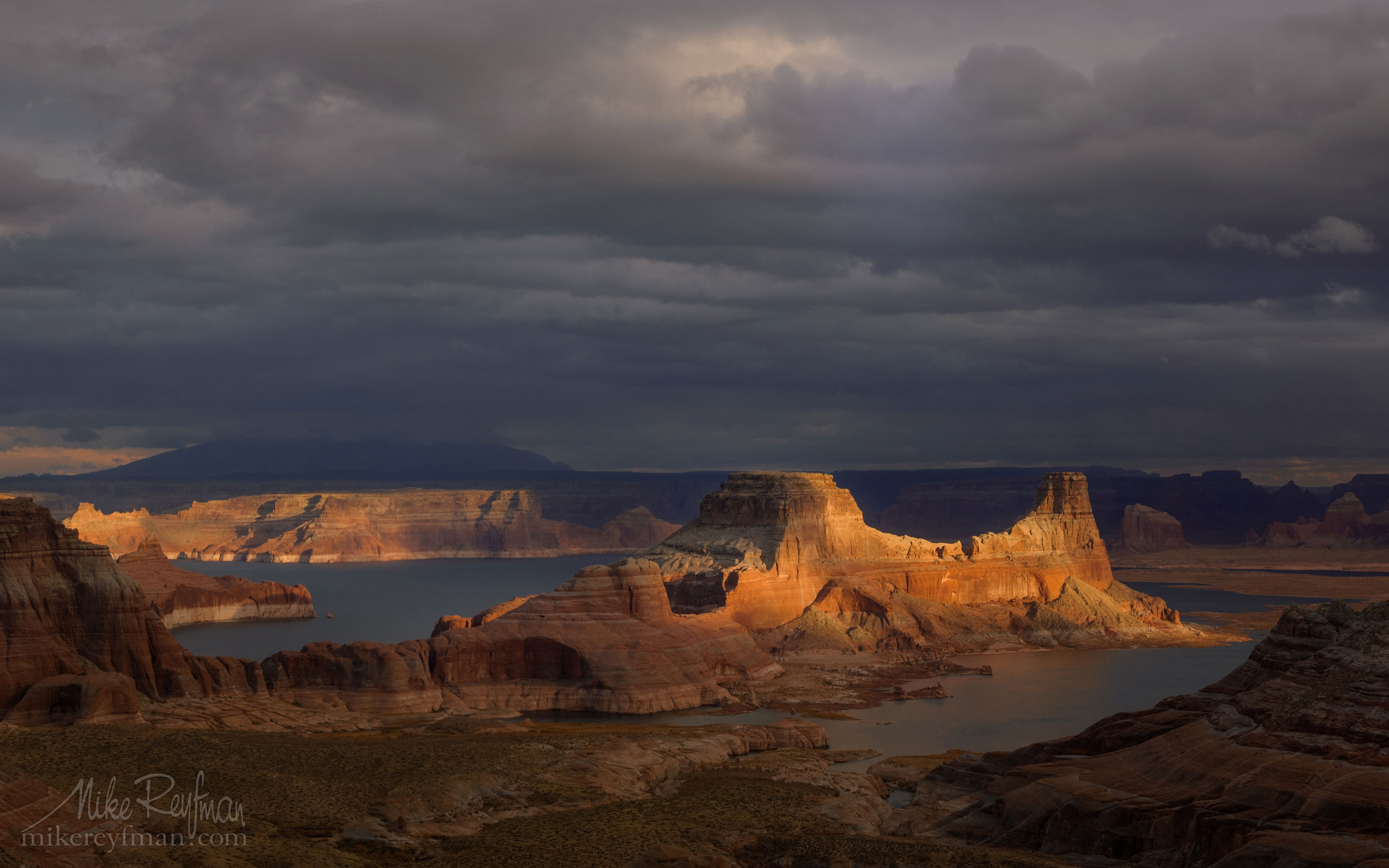 Romana Mesa, Alstrom Point. Gunsight Butte in Padre Bay. Lake Powell, Glen Canyon NRA, Uta/Arizona, USA. 015-LP3_MER0495.jpg - Lake Powell, Glen Canyon NAR. Colorado and Sun Juan Rivers. Utah/Arizona, USA  - Mike Reyfman Photography