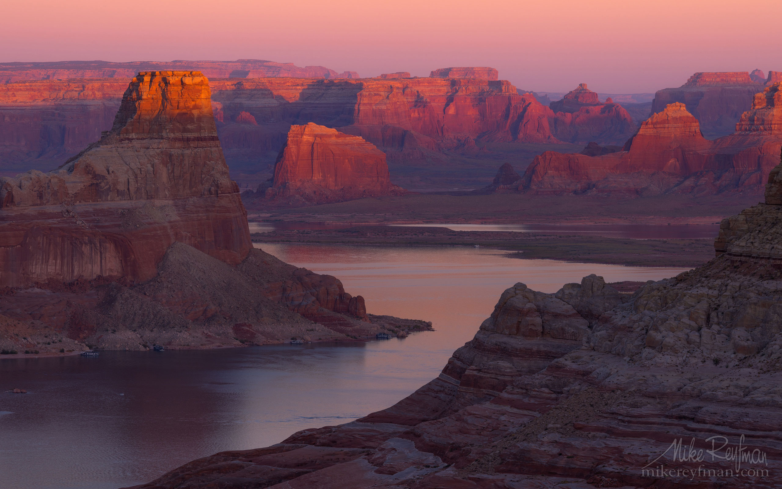 Romana Mesa, Alstrom Point. Gunsight Butte in Padre Bay. Lake Powell, Glen Canyon NRA, Uta/Arizona, USA. 020-LP3_O3X5950.jpg - Lake Powell, Glen Canyon NAR. Colorado and Sun Juan Rivers. Utah/Arizona, USA  - Mike Reyfman Photography