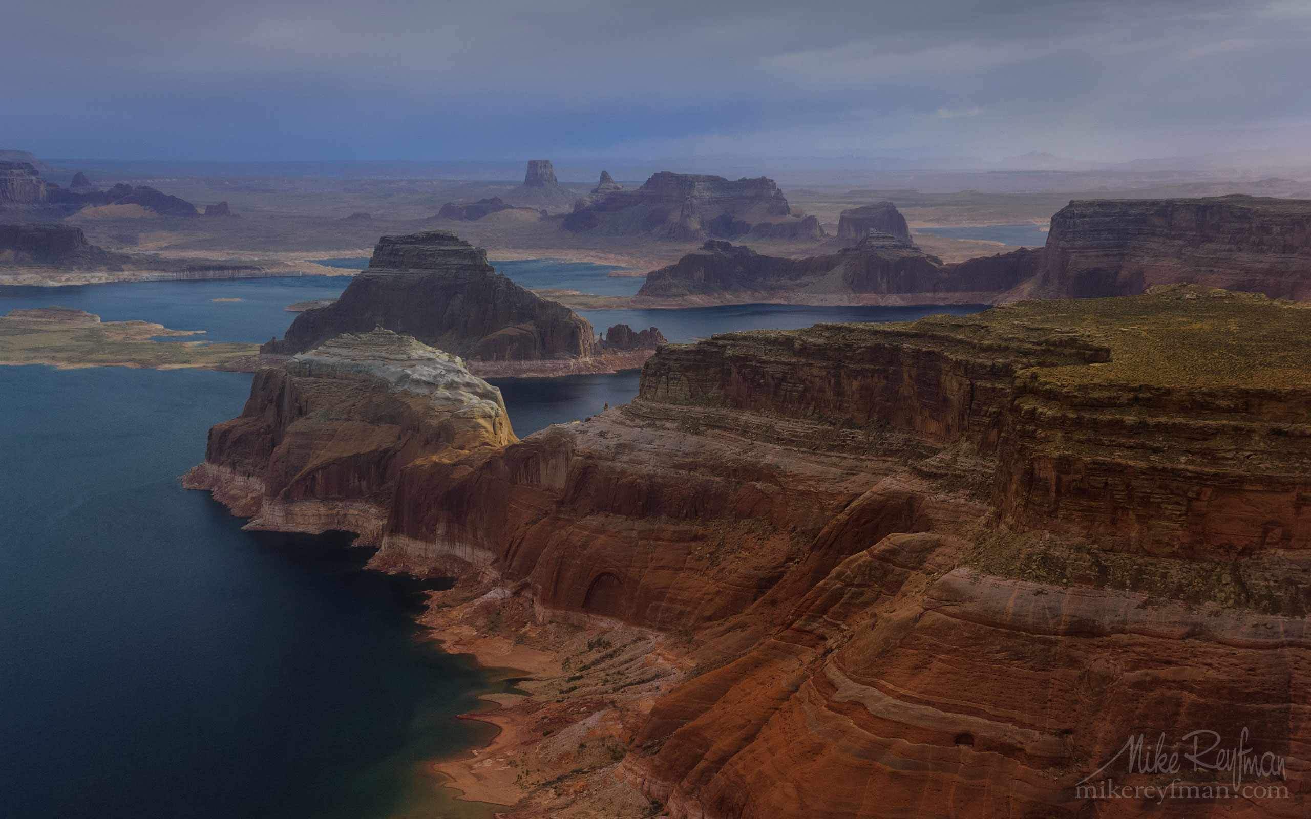 Camel Rock and Gregory Butte, Dominguez, Boundary and Tower Buttes, Lake Powell, Utah/Arizona, USA. Aerial. 043-LP3_MER7044.jpg - Lake Powell, Glen Canyon NAR. Colorado and Sun Juan Rivers. Utah/Arizona, USA  - Mike Reyfman Photography