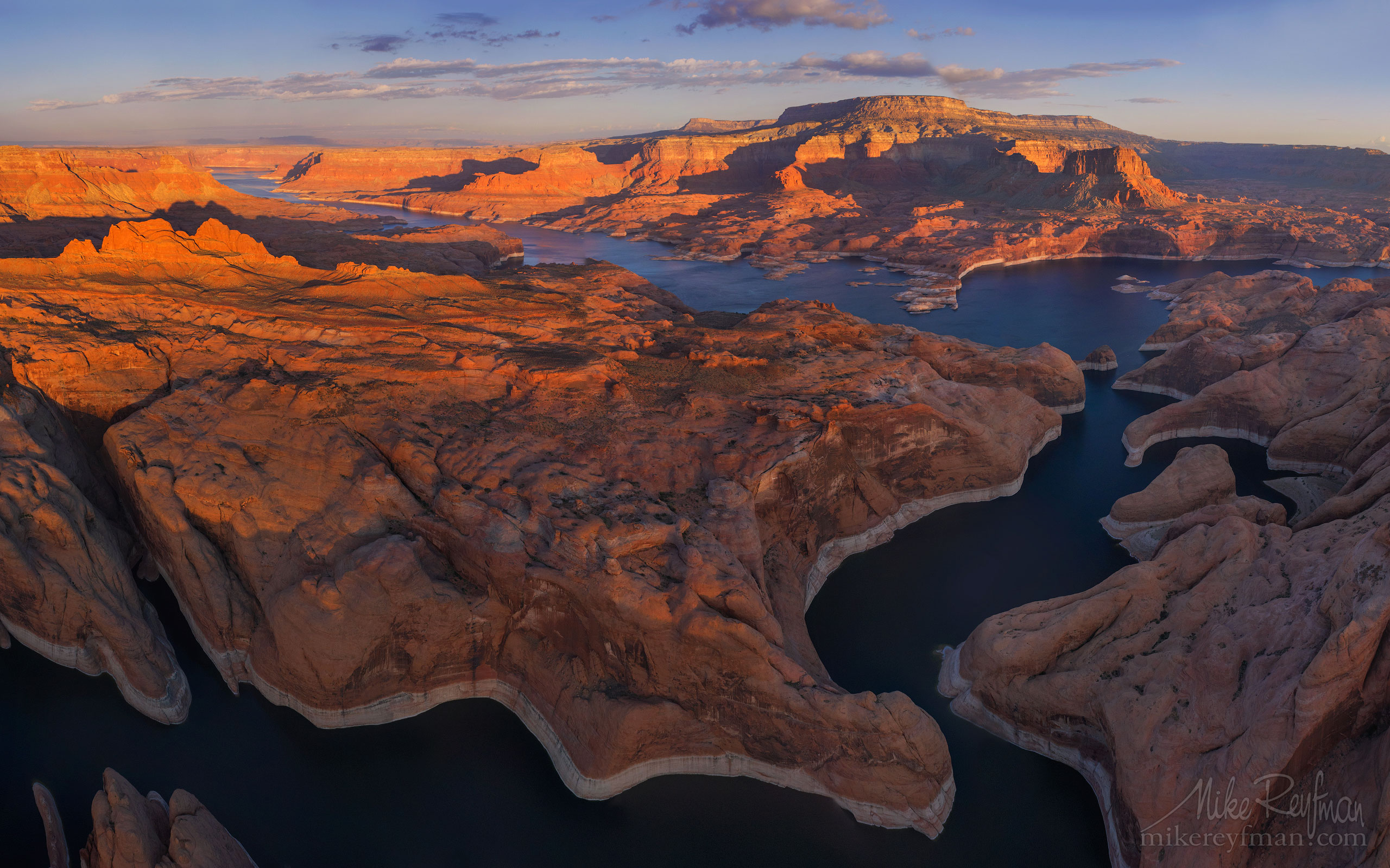 Lake Powell, Glen Canyon NRA, Utah/Arizona, USA. Aerial. 072-LP3_O3X5327-31.jpg - Lake Powell, Glen Canyon NAR. Colorado and Sun Juan Rivers. Utah/Arizona, USA  - Mike Reyfman Photography