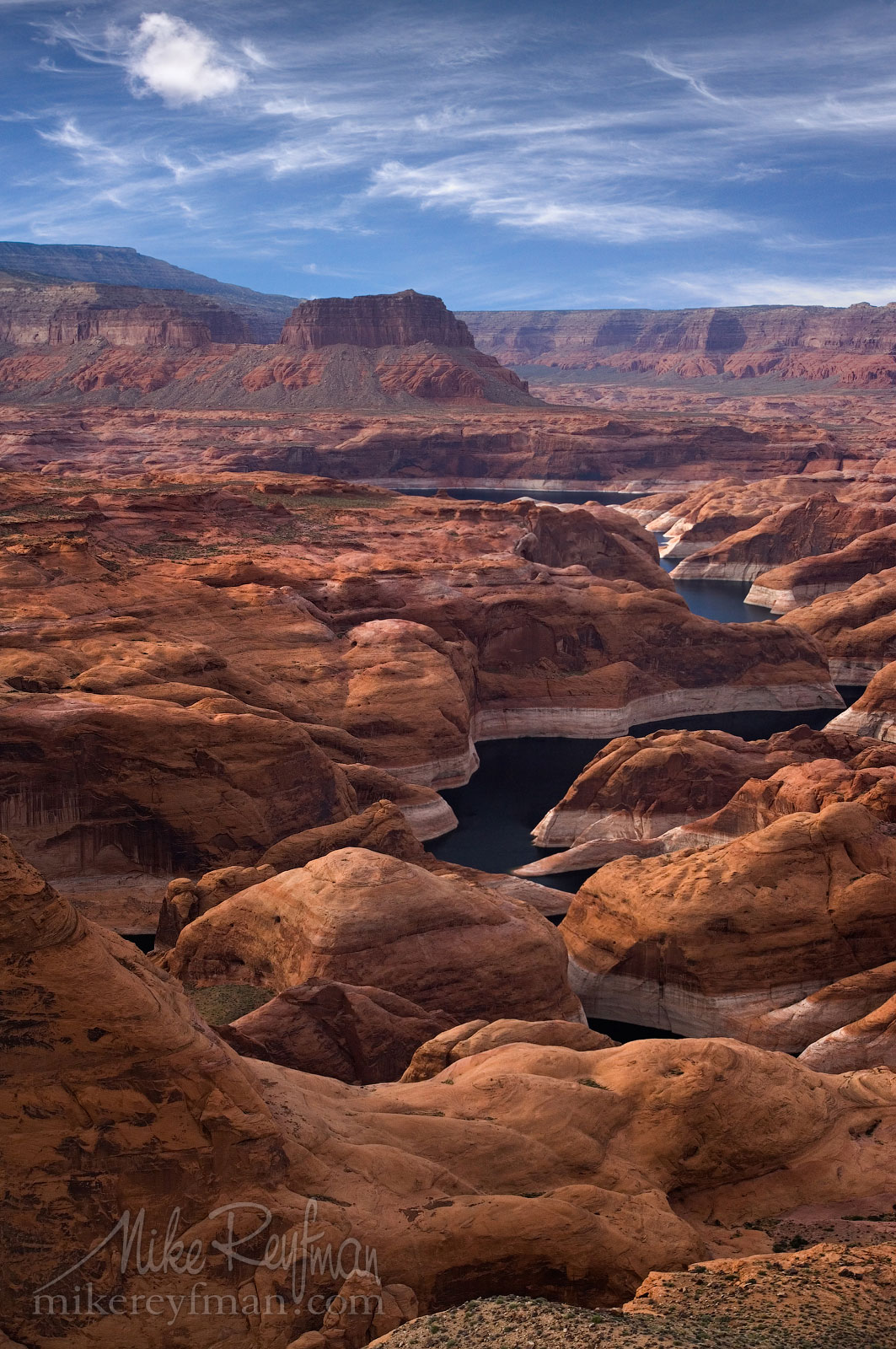 Forbidding Canyon. Glen Canyon NRA, Lake Powell, Utah/Arizona, USA. Aerial. 079-LP3_MER6856.jpg - Lake Powell, Glen Canyon NAR. Colorado and Sun Juan Rivers. Utah/Arizona, USA  - Mike Reyfman Photography