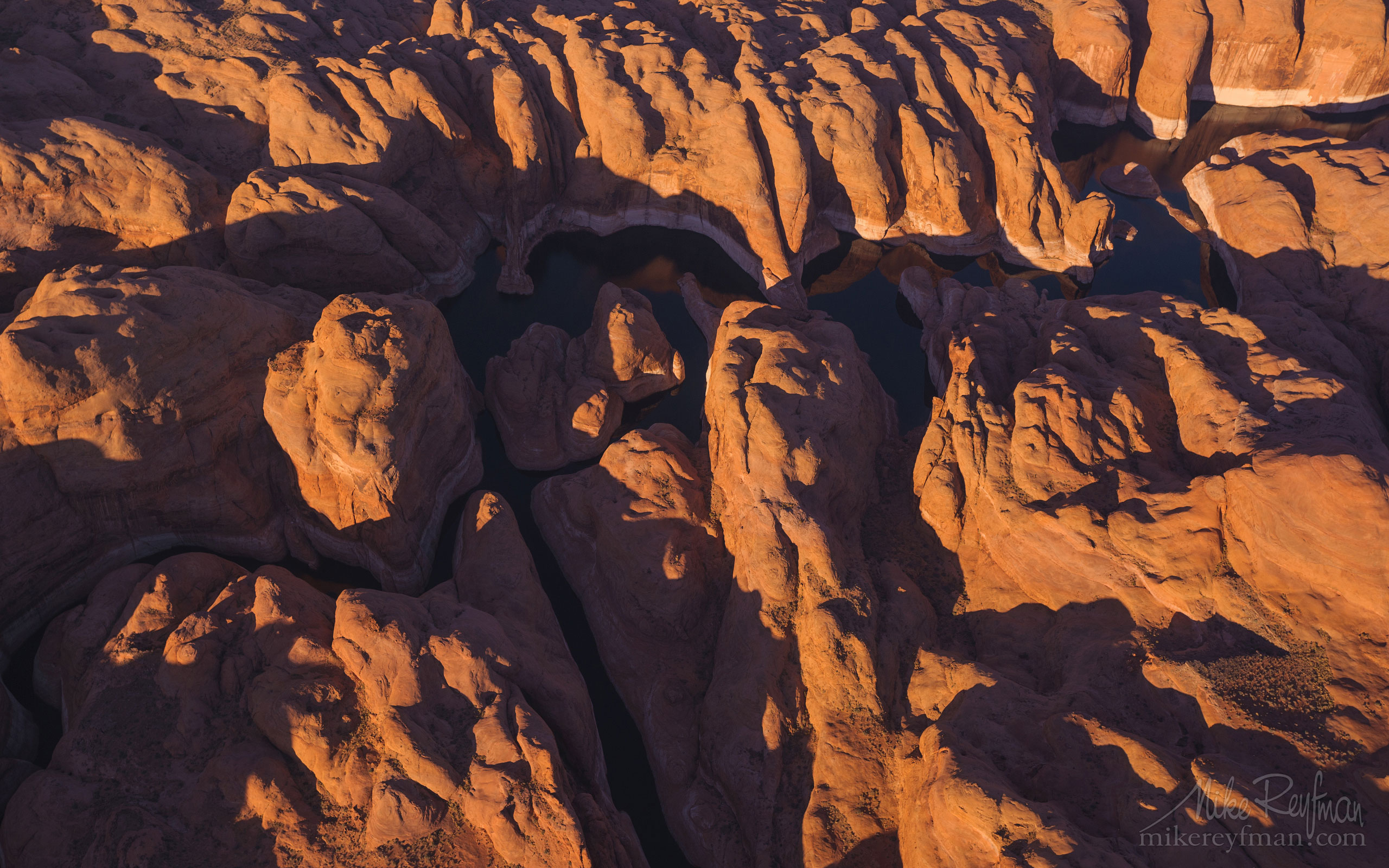 Anasazi Canyon Abstracts. Anasazi Canyon, Lake Powell, Glen Canyon NRA, Utah/Arizona, US. Aerial. 088-LP3081025_158.jpg - Lake Powell, Glen Canyon NAR. Colorado and Sun Juan Rivers. Utah/Arizona, USA  - Mike Reyfman Photography