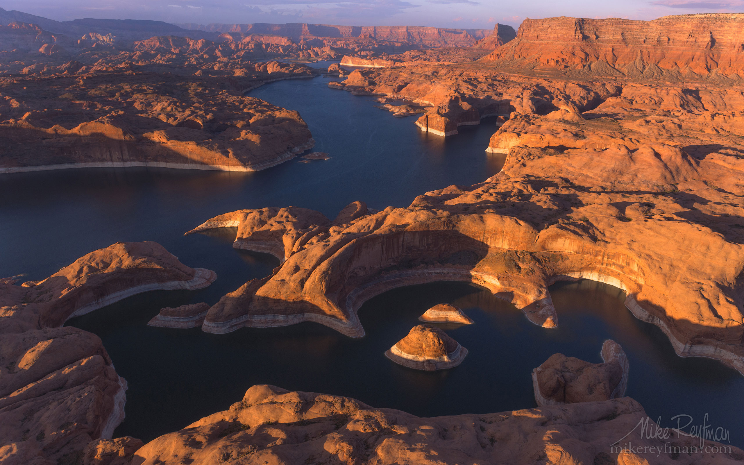 Reflection Canyon. Colorado River, Lake Powell, Glen Canyon NRA. Uta/Arizona, USA. Aerial 100-LP3_O3X5420.jpg - Lake Powell, Glen Canyon NAR. Colorado and Sun Juan Rivers. Utah/Arizona, USA  - Mike Reyfman Photography